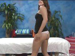 Hot 18 year old playgirl acquires screwed hard by her massage therapist