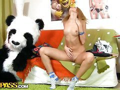 This toys porn video begins in a very blameless way - a cute legal age teenager angel is reading a book, leaning on her big panda bear toy. What a wonderful girl! Don't know which book it was, but it made the honey exceedingly aroused. This Playgirl started touching herself, and gorgeous in a short time the book was replaced by an enomous sex toy. Then the lustful honey decided to go for pleasure sex with her panda bear, who was equipped with a ding-dong 10-Pounder just in case. They did it on the floor and on the couch, in so many positions and with such drive! U hav...