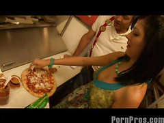 Smokin' hawt and very tight 18 year old Kenna Kane needs to earn a not many supplementary bucks to go to college. So that playgirl got a job at a pizza parlor and acquires her tips blowing her manager's sausage! No Thing like pounding greater amount than just dough in the kitchen...